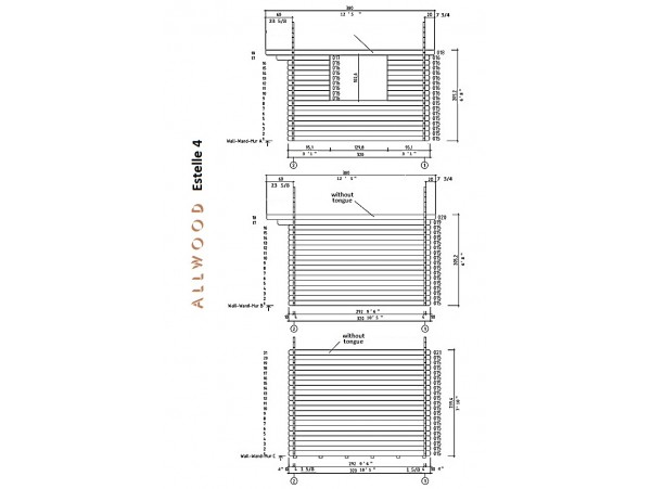 Allwood Estelle 4 | 108 + 40 SQF  kit cabin - FREE SHIPPING - Financing Now Available