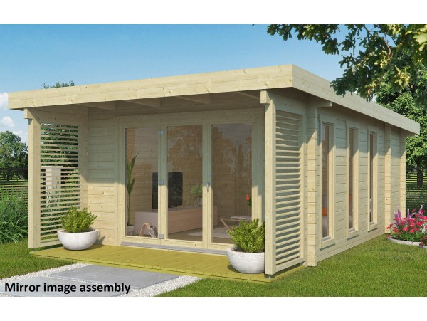 Allwood Girona | 202 SQF cabin kit with 3 rooms - FREE SHIPPING - Financing Available