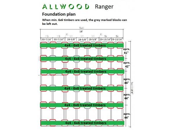 Allwood Ranger | 259 SQF + 168 SQF Loft cabin kit- FREE SHIPPING - Financing Available