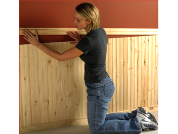 V-Groove Pine Wainscot kit - 48 Lineal ft. of wall