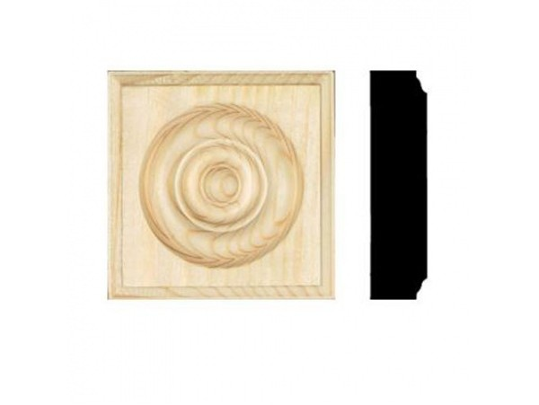 "7/8""x 3-1/2"" Pine Rosette Blocks (40 pc) ** SALE ** 30% OFF **"