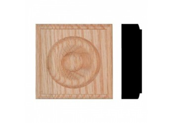 "7/8""x 3-1/4"" Oak Rosette Blocks (40 pc) ** SALE ** 30% OFF **"