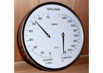 Aluminum Sauna Thermometer/Hygrometer Combination *** FREE SHIPPING ***