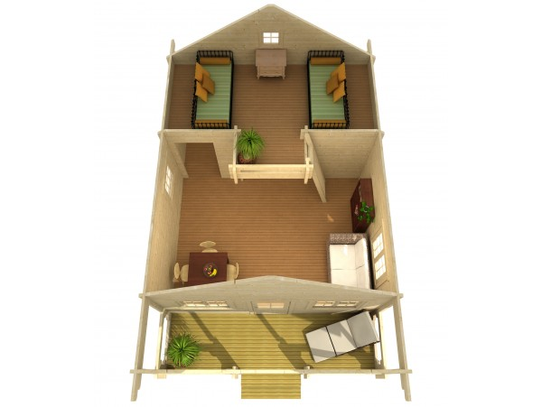 Allwood Timberline | 483 SQF cabin kit - FREE SHIPPING -  Financing Available